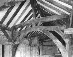 The roof timbers at Foubridge Hall
