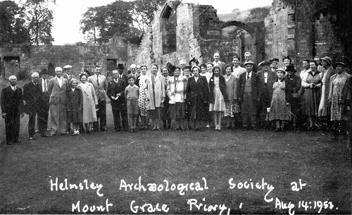 HAHS Members at Mount Grace Priory, Aug 14th 1953
