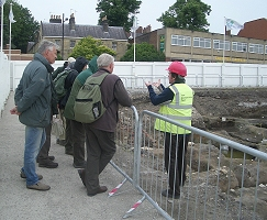 Members of Helmsley Archaeological and Historical Society visiting Hungate, York