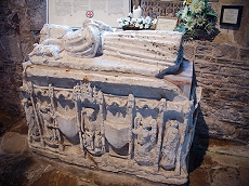 Reflects the links with the Nevilles and Richard III. This photo is of the tomb of Edward Prince of Wales, son of Richard III and Anne Neville