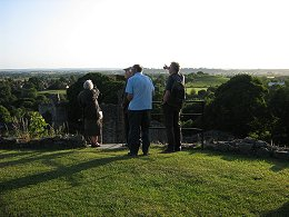 Splendid views to be had from the top of Pickering Castle