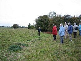 HAHS Members viewing the bumps and humps at Meaux Abbey