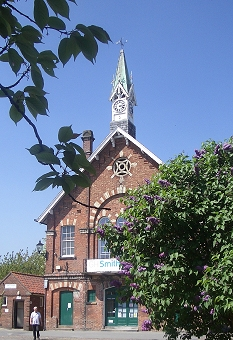 Easingwold Town Hall and  Clock Spire (erected 1869)